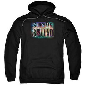 Suicide Squad Neon Logo Pullover Hoodie