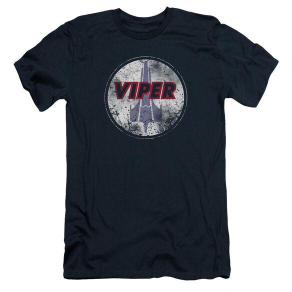 Bsg War Torn Viper Logo Short Sleeve Adult T-Shirt