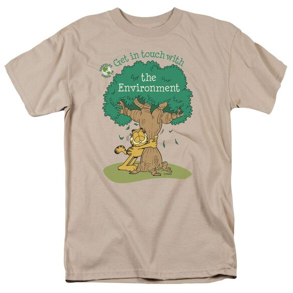 Garfield Get In Touch Short Sleeve Adult Sand T-Shirt