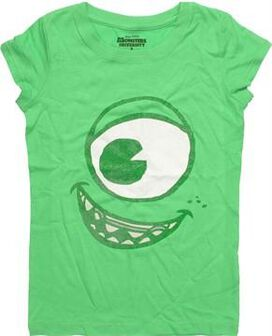 Monsters Inc Mike Glitter Face Youth T-Shirt
