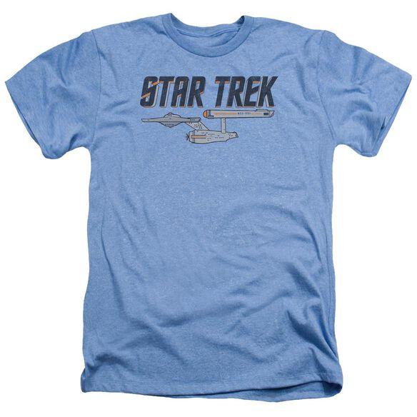 Star Trek Entreprise Logo Adult Heather Light