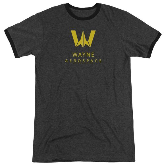 Justice League Movie Wayne Aerospace Adult Ringer Charcoal