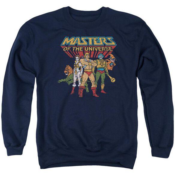Masters Of The Universe Team Of Heroes Adult Crewneck Sweatshirt