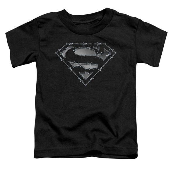 Superman Barbed Wire Short Sleeve Toddler Tee Black Lg T-Shirt