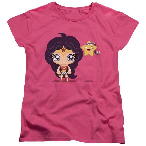 Jla Cute Wonder Woman Short Sleeve Womens Tee Hot T-Shirt