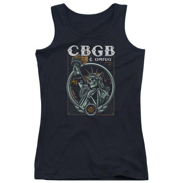 Cbgb Liberty Skull Juniors Tank Top