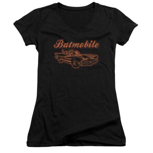 Batman Batmobile Junior V Neck T-Shirt