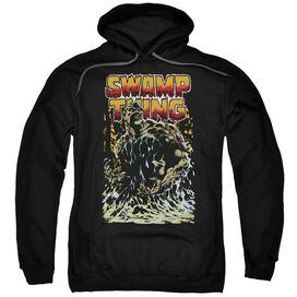 Jla Swamp Thing Adult Pull Over Hoodie Black