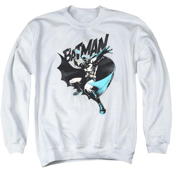 Batman Batarang Throw - Adult Crewneck Sweatshirt - White