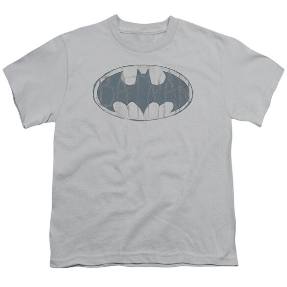 Batman Water Sketch Signal Short Sleeve Youth T-Shirt