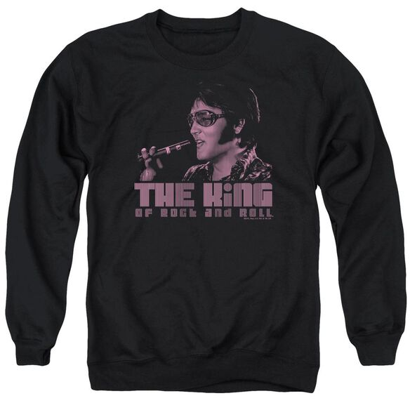 Elvis The King Adult Crewneck Sweatshirt