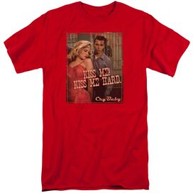 CRY BABY KISS ME - S/S ADULT TALL - RED - 2X - RED T-Shirt