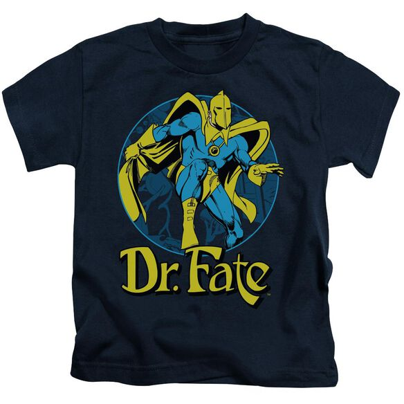 Dc Dr Fate Ankh Short Sleeve Juvenile Navy T-Shirt