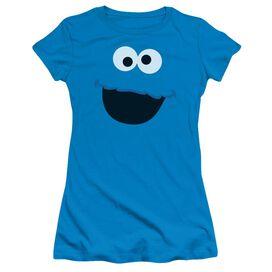 Sesame Street Cookie Monster Face Short Sleeve Junior Sheer T-Shirt