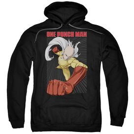 One Punch Man Heroic Fist Adult Pull Over Hoodie Black