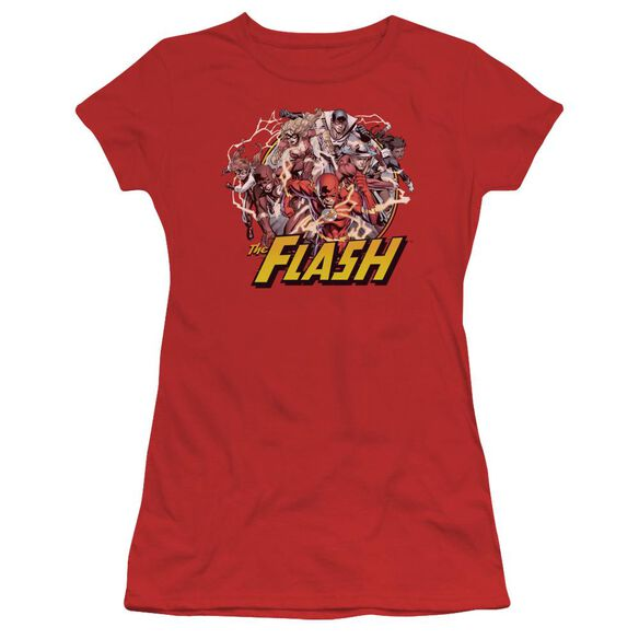 Jla Flash Family Short Sleeve Junior Sheer T-Shirt