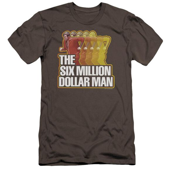 Six Million Dollar Man Run Fast Premuim Canvas Adult Slim Fit