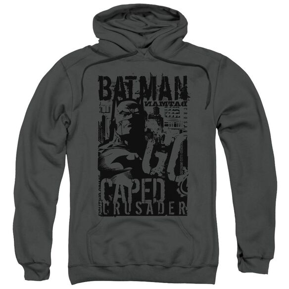 Batman Caped Crusader Adult Pull Over Hoodie