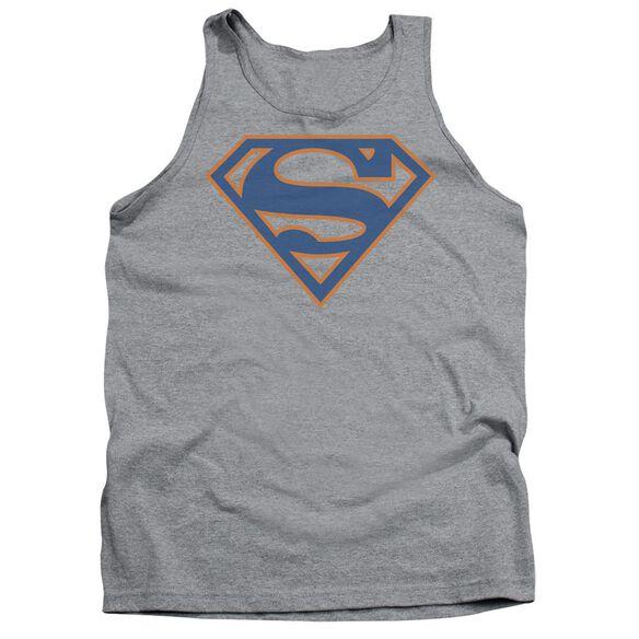 Superman Blue & Orange Shield Adult Tank Athletic