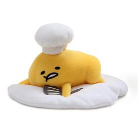 Gudetama Lazy Chef Egg with Hat and Spatula Plush
