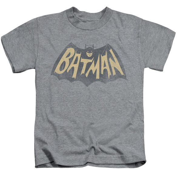 Batman Classic Tv Show Logo Short Sleeve Juvenile Athletic Heather Md T-Shirt