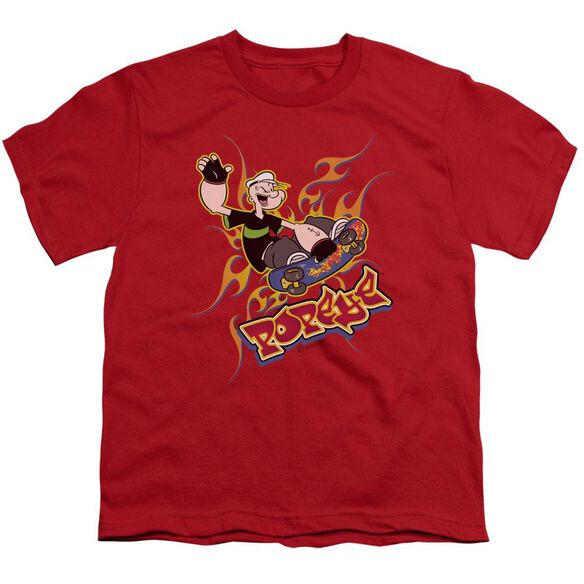 Popeye Get Air Short Sleeve Youth T-Shirt