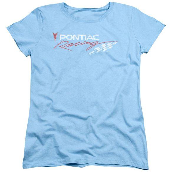Pontiac Pontiac Racing Rough Hewn Short Sleeve Womens Tee Light T-Shirt