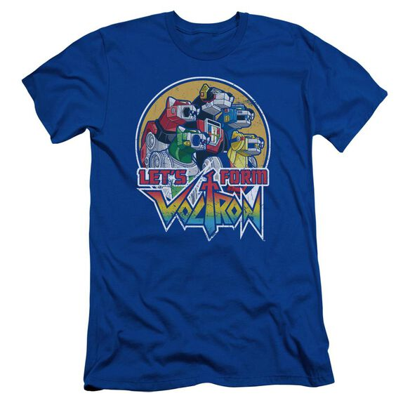 Voltron Let's Form Short Sleeve Adult Royal T-Shirt