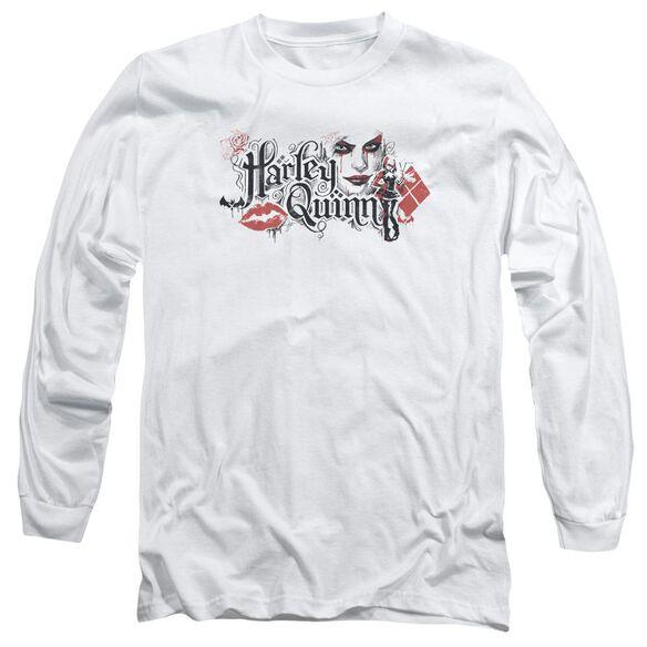 Batman Arkham Knight Lips Long Sleeve Adult T-Shirt