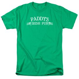 Its Always Sunny In Philadelphia Paddys Logo Short Sleeve Adult Kelly T-Shirt
