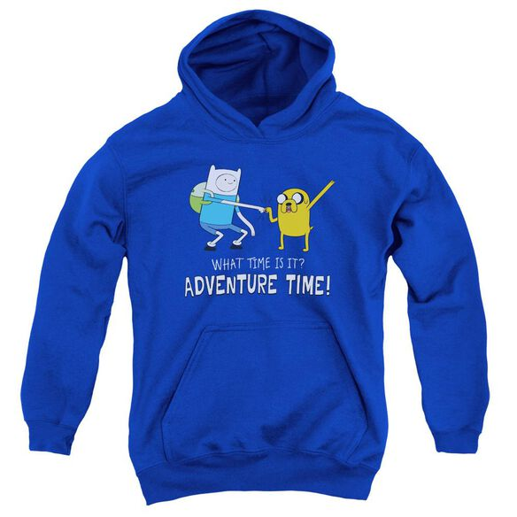 Adventure Time Fist Bump Youth Pull Over Hoodie Royal