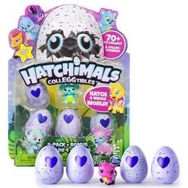 Hatchimals Colleggtible 4 Pack + Bonus