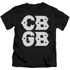 Cbgb Stacked Logo Short Sleeve Juvenile T-Shirt