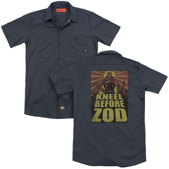 Superman Zod Poster (Back Print) Adult Work Shirt