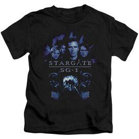 Sg1 Sg1 Stargate Command Short Sleeve Juvenile Black T-Shirt