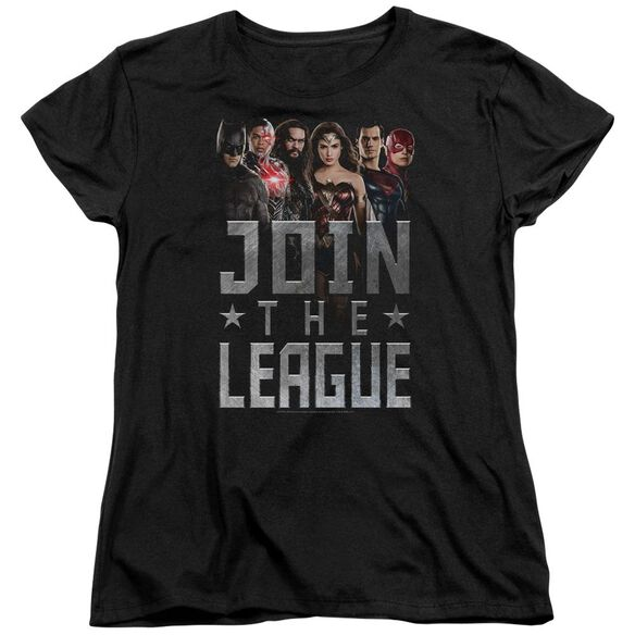 Justice League Movie Join The League Short Sleeve Womens Tee T-Shirt