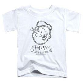 Popeye Sketch Portrait Short Sleeve Toddler Tee White Lg T-Shirt