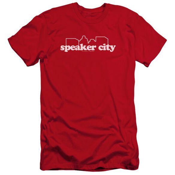 Old School Speaker City Logo Premuim Canvas Adult Slim Fit