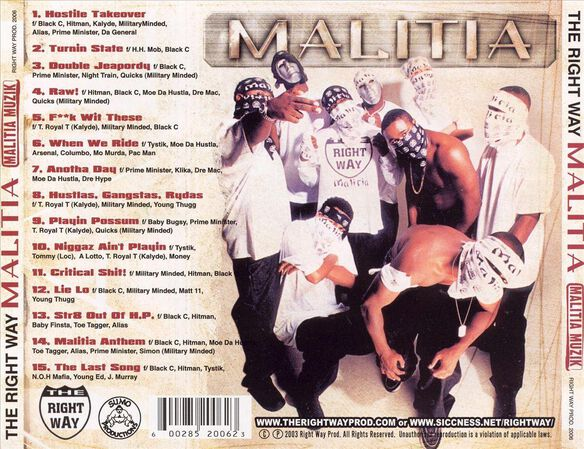 Presents Malitia Muzik(Cd