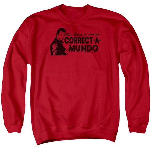 Happy Days Correct A Mundo Adult Crewneck Sweatshirt