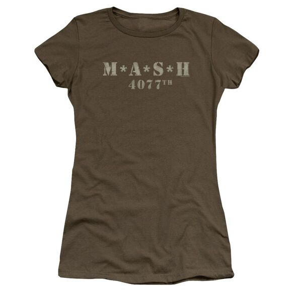 Mash Distressed Logo Premium Bella Junior Sheer Jersey Military