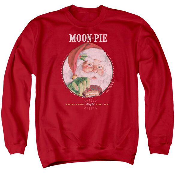 Moon Pie Snacks For Santa Adult Crewneck Sweatshirt