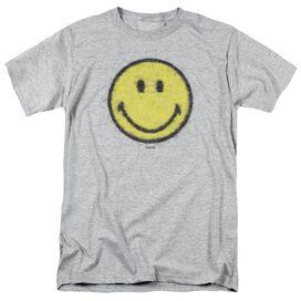 Smiley World Paper Jam Short Sleeve Adult Athletic Heather T-Shirt