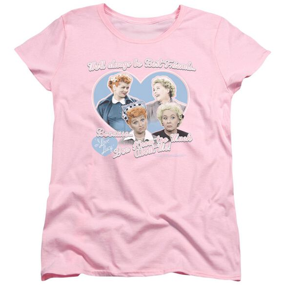 I Love Lucy Always Best Friends Short Sleeve Womens Tee T-Shirt