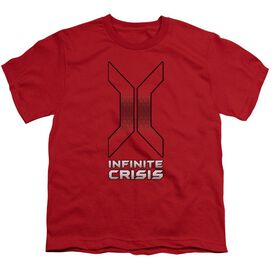 Infinite Crisis Title Short Sleeve Youth T-Shirt