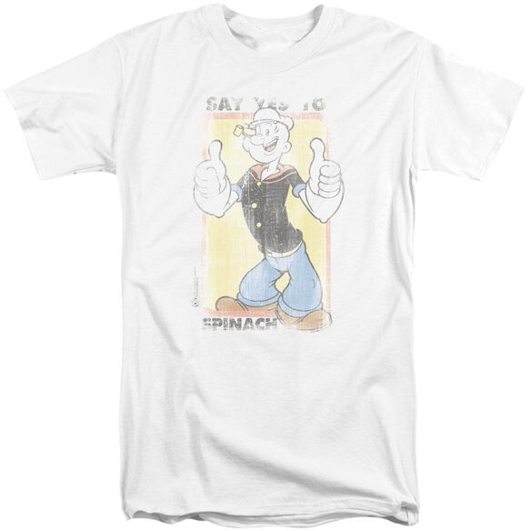 Popeye Say Yes To Spinach Short Sleeve Adult Tall T-Shirt