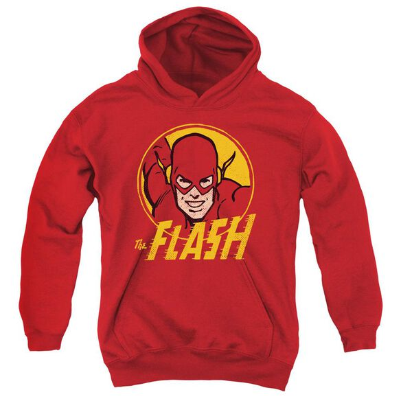 Dc Flash Flash Circle Youth Pull Over Hoodie