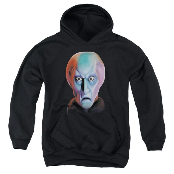 Star Trek Balok Head-youth Pull-over Hoodie - Black