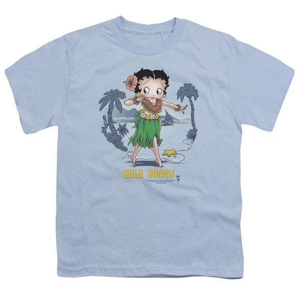 Betty Boop Hula Honey Short Sleeve Youth Carolina T-Shirt