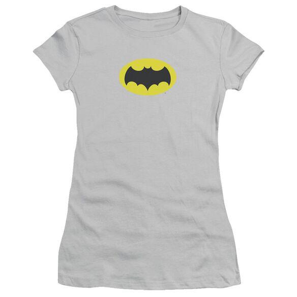 Batman Classic Tv Chest Logo Short Sleeve Junior Sheer T-Shirt